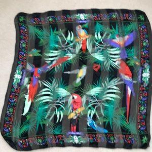 Silk Birds in Paradise scarf